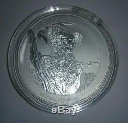 10oz. 999 Silver Queen Elizabeth 2 Coin With Koala Bear On Back 2015