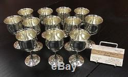 12 Amazing Reed & Barton Queen Elizabeth Sterling Silver Cordials H121