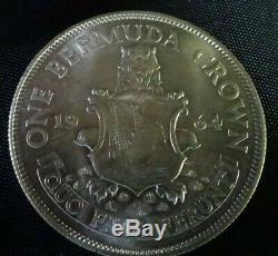 12 x Bermuda One Crown Coins 1964 Queen Elizabeth Bermuda Crest 50% Silver
