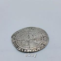 1560 1561 Queen Elizabeth I Hammered Groat Coin 2nd Issue MM Cross Crosslet