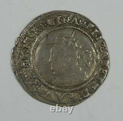 1568 ENGLAND Queen Elizabeth I Silver Sixpence VERY FINE