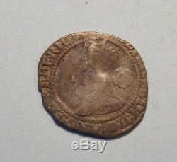 1572 Great Britain 3 Pence Silver English Coin UK Queen Elizabeth I England Nice