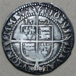 1572 Great Britain Silver Sixpence Queen Elizabeth I