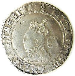 1572 Queen Elizabeth I Tudor Silver Sixpence