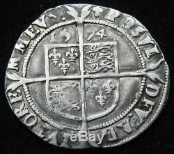1574 Queen Elizabeth I, 1558-1603. Hammered Silver Sixpence coin