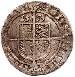1575 Queen Elizabeth I Silver Hammered Sixpence Coin Tudor Period British S. 2563