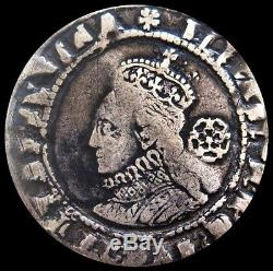 1576 Silver Great Britain Six Pence Queen Elizabeth Coin Condition Vf Spink 2561