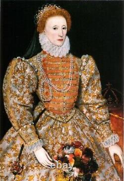 1582 Queen Elizabeth I Tudor Silver Sixpence