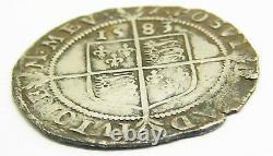 1583 Silver Sixpence Queen Elizabeth I Tudor