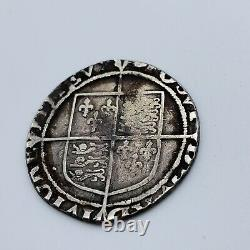1590 1592 Queen Elizabeth I Shilling 6th Issue, MM Hand Hammered Silver Coin