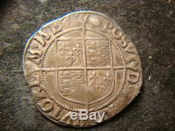 1592-1595 XF Great Britain Queen Elizabeth I Silver Shilling 6.13 Gr