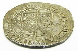16th century AD England Queen Elizabeth I Tudor Silver Shilling 1560 1561 AD