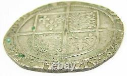 16th century AD England Queen Elizabeth I Tudor Silver Shilling 1595 1598 AD