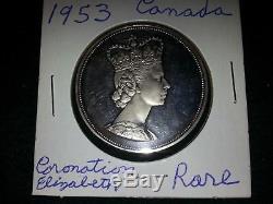 1953 Canada Queen Elizabeth II Coronation Rare Silver Medal