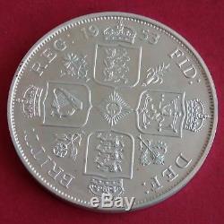 1953 Queen Elizabeth II Silver Proof Pattern Double Florin