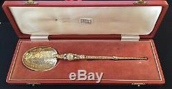 1953 Queen Elizabeth Sterling Silver Large Anointing Coronation Spoon Box 107gr