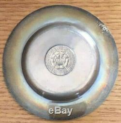 1953 Silver Queen Elizabeth II Coronation Plate by Crichton Bros Silversmiths