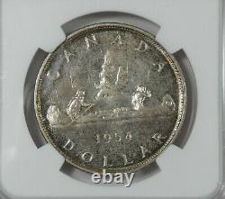 1954 CANADA Queen Elizabeth II Silver $1 CERTIFIED NGC Proof-Like 65