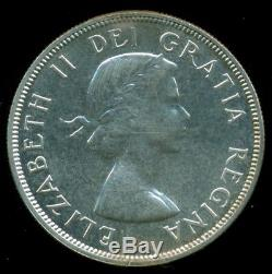 1954 Canada Queen Elizabeth II Silver Dollar, ICCS Certified PL-64