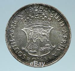 1954 SOUTH AFRICA UK Queen Elizabeth II Proof Silver 2 1/2 Shilling Coin i82861