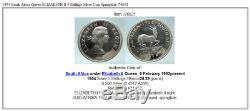 1954 South Africa Queen ELIZABETH II 5 Shillings Silver Coin Springbok i76631