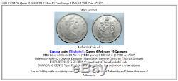 1959 CANADA Queen ELIZABETH II Silver 50 Cent Vintage ARMS SILVER Coin i71920