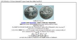 1959 CANADA w UK Queen Elizabeth II Voyagers Genuine Silver Dollar Coin i78619
