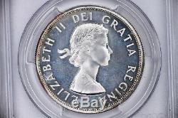 1959 Canadian Queen Elizabeth II Silver Dollar PCGS PF-67