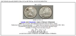 1960 CANADA Queen ELIZABETH II Silver 10 Cent SILVER Coin BLUENOSE SHIP i57102