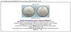 1961 CANADA Queen ELIZABETH II Silver 50 Cent Vintage ARMS SILVER Coin i71638