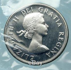 1964 CANADA UK Queen ELIZABETH II LION CROWN Proof Silver 50 Cent Coin i83874