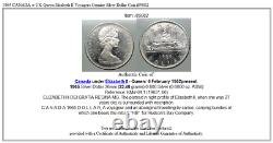 1965 CANADA w UK Queen Elizabeth II Voyagers Genuine Silver Dollar Coin i85082