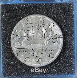 1965 Canada Queen Elizabeth II Silver Dollar $1 Hand Cut Jigsaw Puzzle Coin