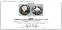 1970 BAHAMAS British Queen Elizabeth II CONCH SHELL Proof Silver $1 Coin i84870