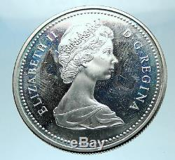 1971 Canada British Columbia UK Queen Elizabeth II Large Silver $ Coin i77853