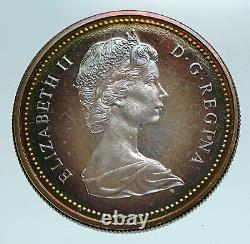 1971 Canada British Columbia UK Queen Elizabeth II Large Silver $ Coin i84170