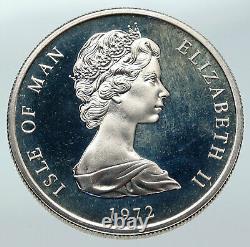 1972 GREAT BRITAIN UK Queen Elizabeth Silver Wedding Proof SILVER 25 Coin i85733