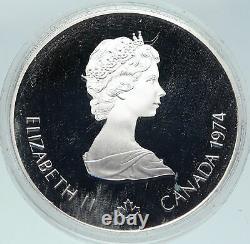 1973 CANADA Queen Elizabeth II Olympics Montreal Native PF Silver $5 Coin i86306