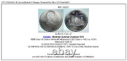 1973 CANADA UK Queen Elizabeth II Olympics Montreal City Silver $10 Coin i82281