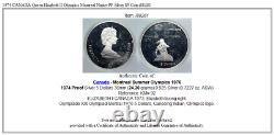 1974 CANADA Queen Elizabeth II Olympics Montreal Native PF Silver $5 Coin i88281