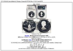 1974 CANADA Queen Elizabeth II Olympics Montreal ROWING Silver 5 NGC Coin i82956