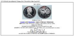 1974 CANADA Queen Elizabeth II Winnipeg Past / Present Silver Dollar Coin i84119