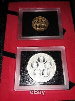 1976 Cayman Islands, Queen Elizabeth II, $100 Gold, $50 Silver Proof Set