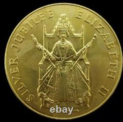 1977Queen Elizabeth II Silver Jubilee Gold Gilt Bronze Medal GB UK