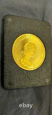 1977 CANADA 1/2oz $100 GOLD PROOF QUEEN ELIZABETH II SILVER JUBILEE FLOWERS OGP