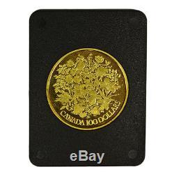 1977 Canada 100 Gold Dollars. Queen Elizabeth II Silver Jubilee. Box & COA