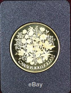 1977 Canada Queen Elizabeth II Silver Jubilee $100 Gold Proof Coin as Issued