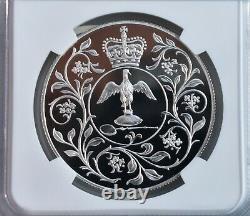 1977 Commemorative Silver Proof NGC PF69 25p Silver Jubilee Queen Elizabeth II