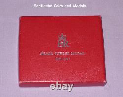 1977 OFFICIAL QUEEN ELIZABETH II SILVER JUBILEE MEDAL Full Size Ladies Ribbon