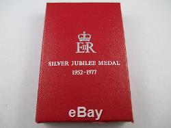 1977 Queen Elizabeth II Silver Jubilee Medal 1952-1977- Boxed